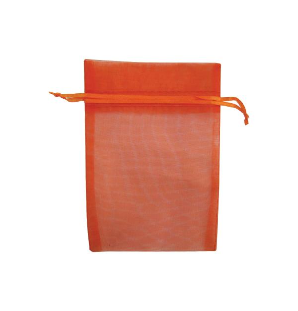 Σετ 12 υφασμάτινα πορτοκαλί πουγγιά για μπιζού