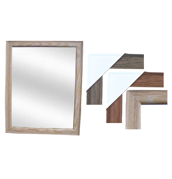 Καθρέφτης επιτοίχιος ξύλινο κάδρο 35 x 45 εκ.