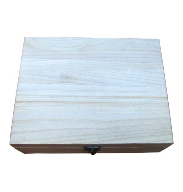Μεγάλο ξύλινο αλουστράριστο κουτί