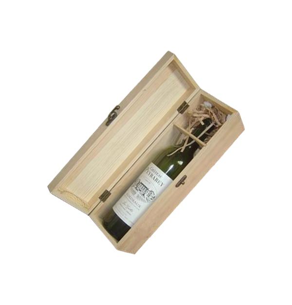 65051686f0 Ξύλινο αλουστράριστο κουτί για 1 φιάλη κρασί  20601235  20601235 102  Hobby Υλικά ...