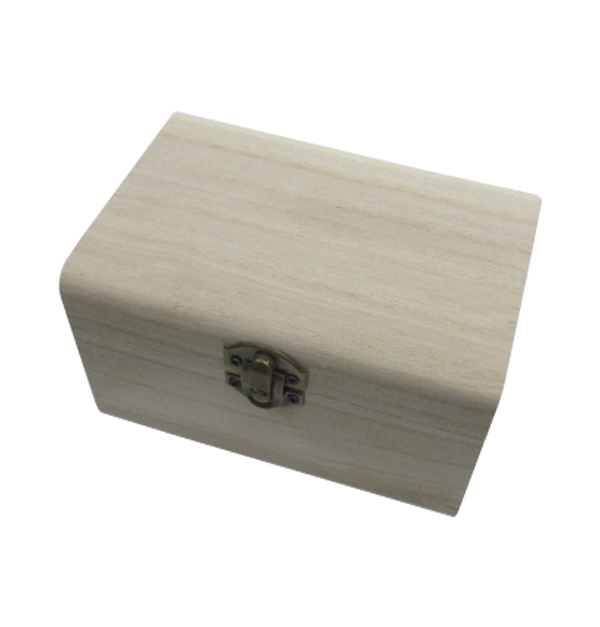 Ξύλινο αλουστράριστο κουτί για ντεκουπάζ