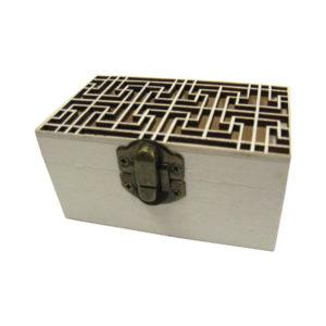 Ξύλινο αλουστράριστο κουτί σκαλιστό για decoupage