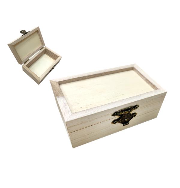 Ξύλινο αλουστράριστο κουτί Υ3,8 x Μ6 x Π10cm