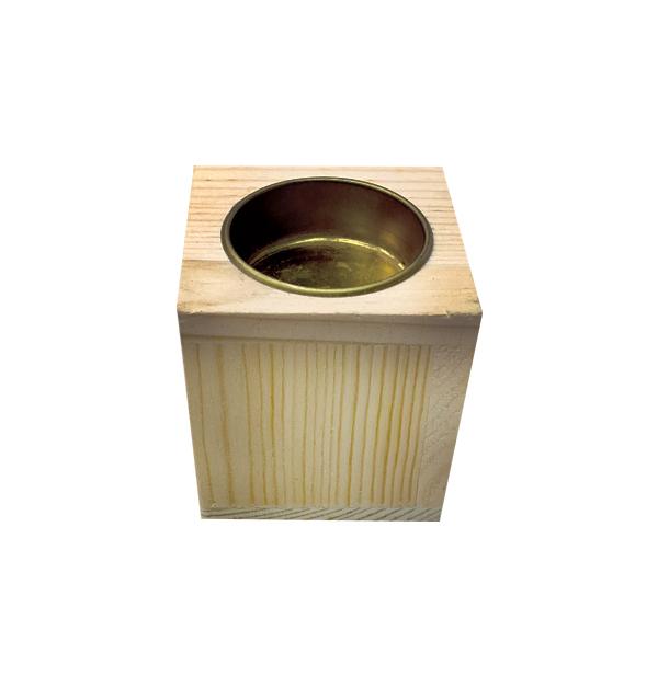 Ξύλινο κηροπήγιο για ρεσό Υ6 x Μ5,8 x Π5,8