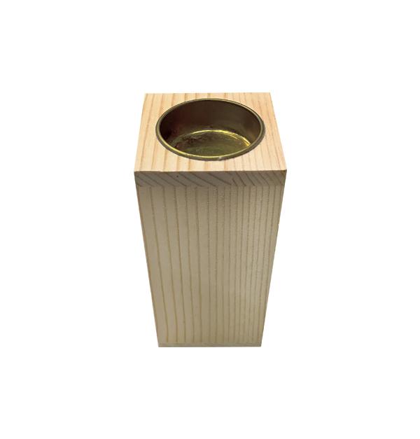 Ξύλινο κηροπήγιο για ρεσό Υ12 x Μ5,8 x Π5,8