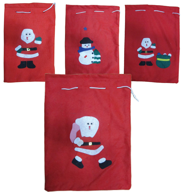 Χριστουγεννιάτικη τσάντα πουγκί με Αη-Βασίλη