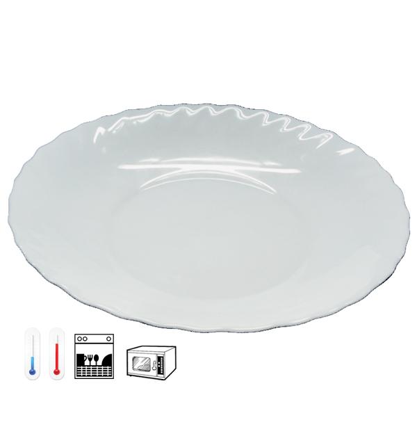 Γυάλινο πιάτο pasta Prima - οπαλίνα