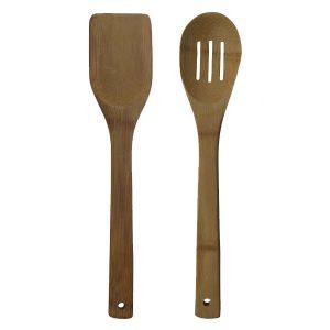 Σετ 2 ξύλινες κουτάλες από μαμπού [00101137]
