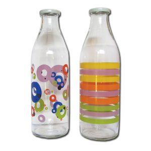 Γυάλινο μπουκάλι νερού 1 λίτρου με βιδωτό καπάκι