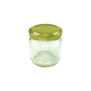 Κυλινδρικό γυάλινο βαζάκι 106ml με μεταλλικό καπάκι [70101281]
