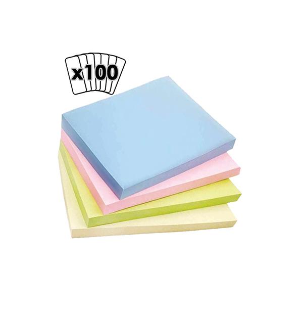 Αυτοκόλλητα χαρτάκια Memmo χρωματιστό Φ.100