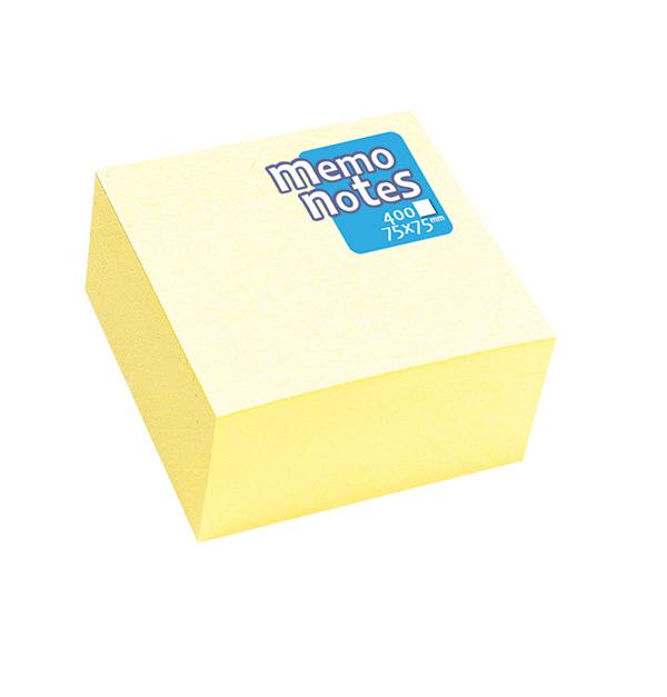 Αυτοκόλλητα χαρτάκια Memmo κίτρινα Φ.400