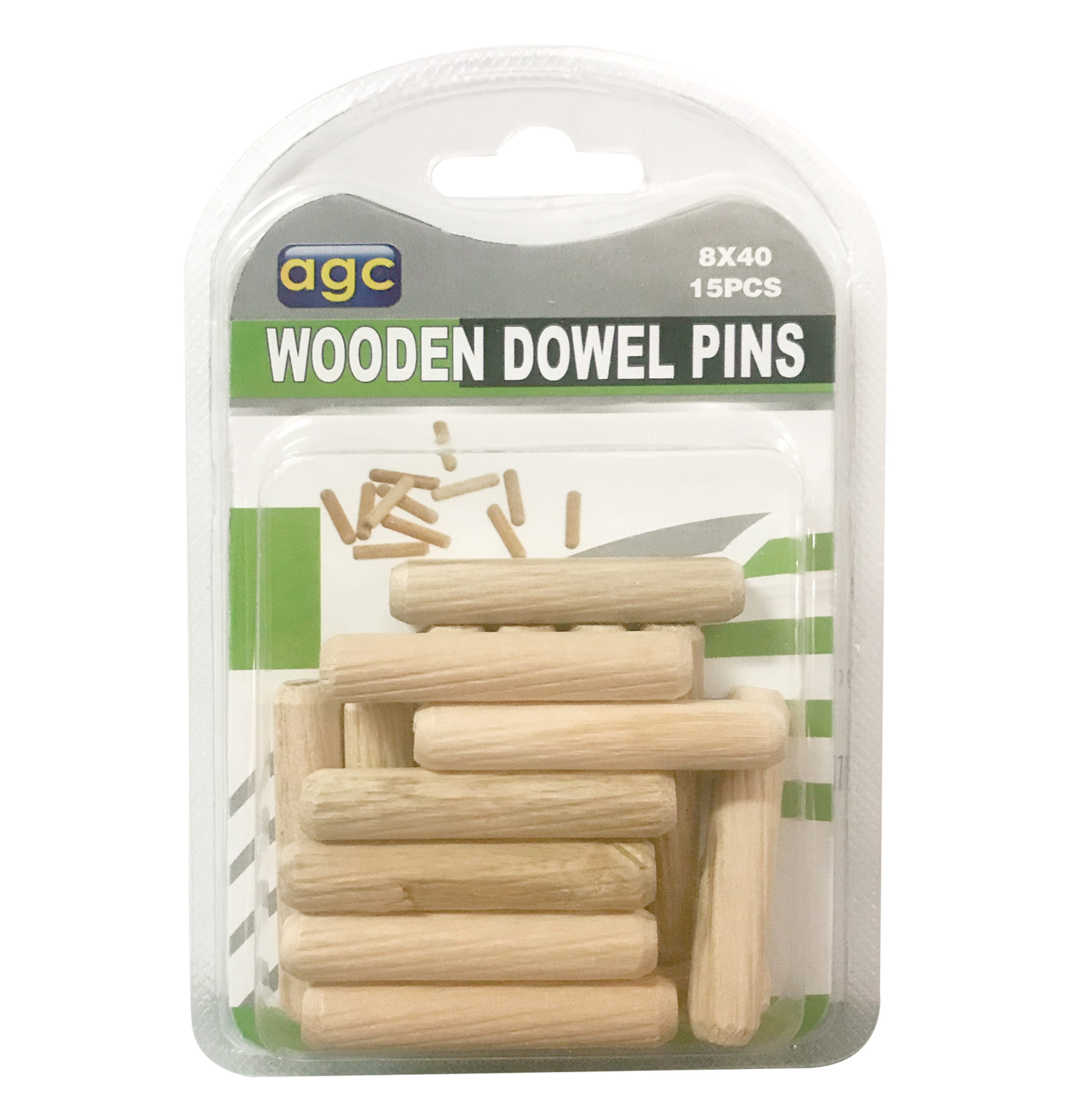 Σετ 15 ξύλινες καβίλιες Ø8mm