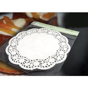 Σετ 10 στρογγυλές χάρτινες δαντελωτές βάσεις τούρτας [70602123]