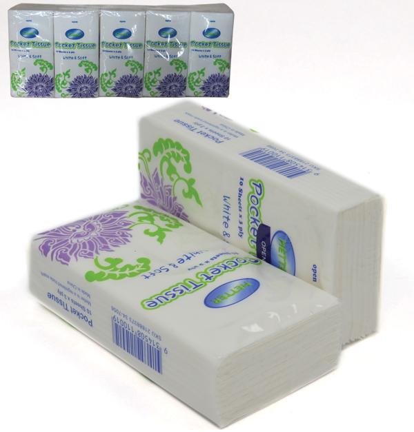 Σετ 10 πακέτα χαρτομάντηλα τσέπης