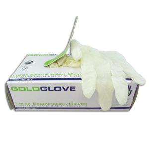 Γάντια λάτεξ μιας χρήσης με πούδρα - Small [00402382-S]