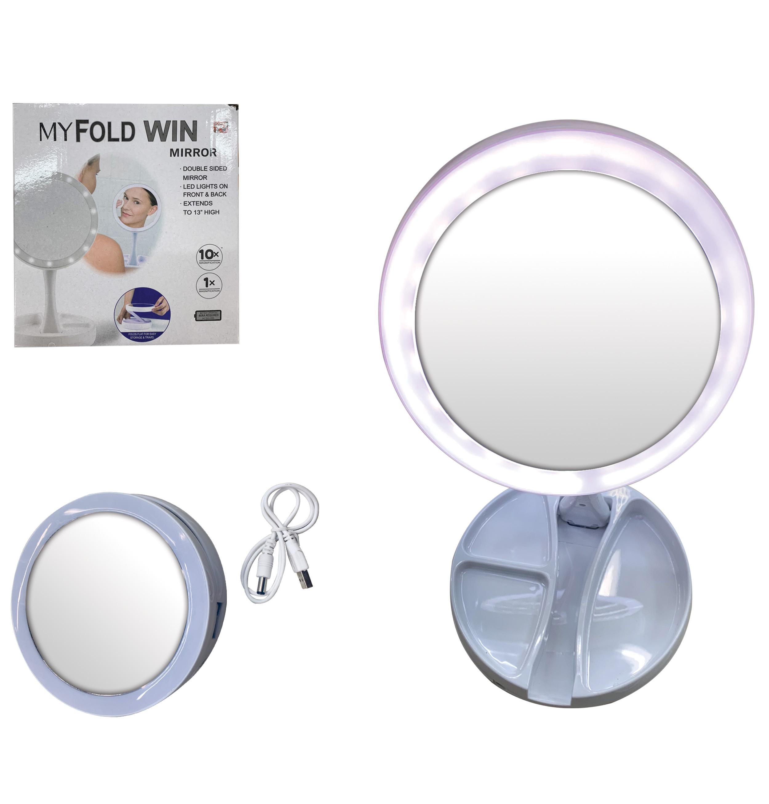 Καθρεφτάκι επιτραπέζιο διπλής όψης 15,5cm