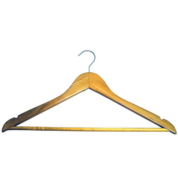 Ίσια ξύλινη κρεμάστρα ρούχων χωρίς καμπούρα