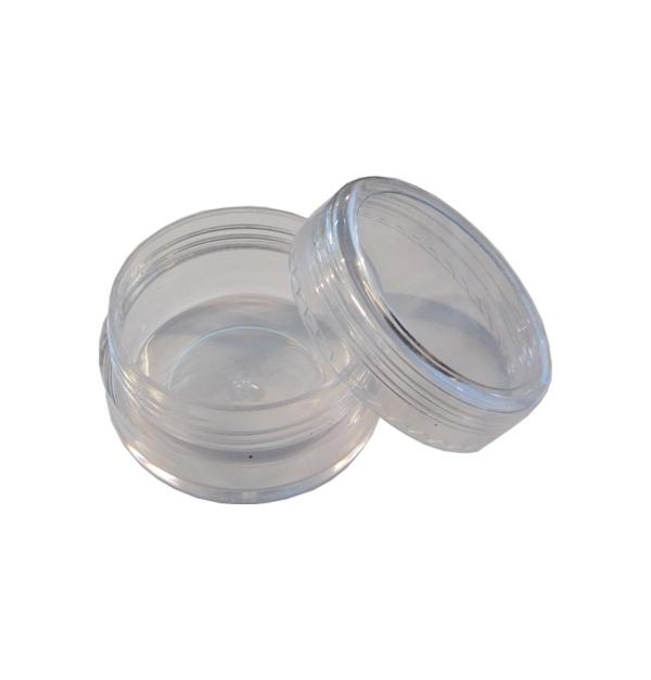 Στρογγυλό πλαστικό αποθηκευτικό βαζάκια για 10gr στρας