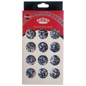 Διακοσμητικά μαύρα στρασάκια νυχιών σε κασετίνα [40502095]