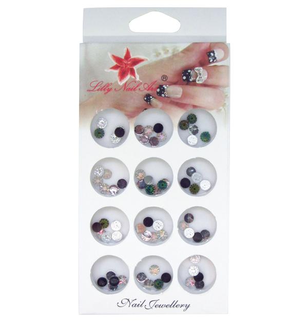 Κασετίνα με διακοσμητικά στρασάκια νυχιών