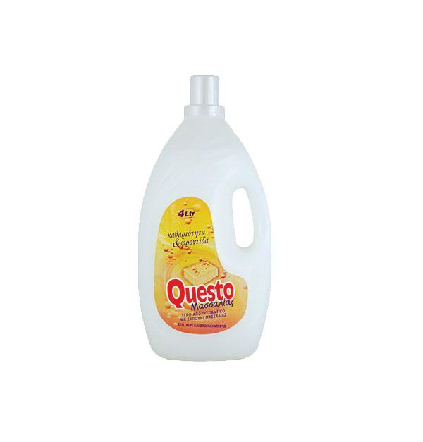 Υγρό πλυντηρίου Questo 4lt Λευκό σαπούνι Μασσαλίας