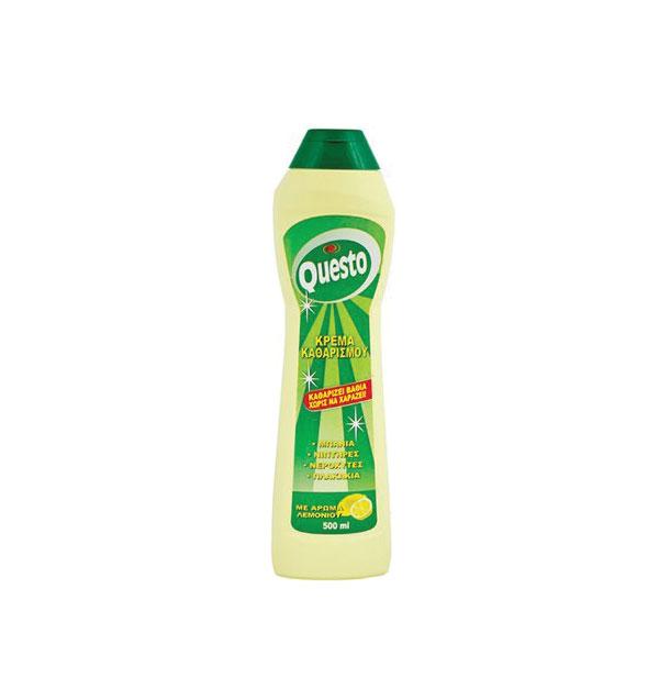 Κρέμα καθαρισμού μπάνιου Questo 500ml λεμόνι