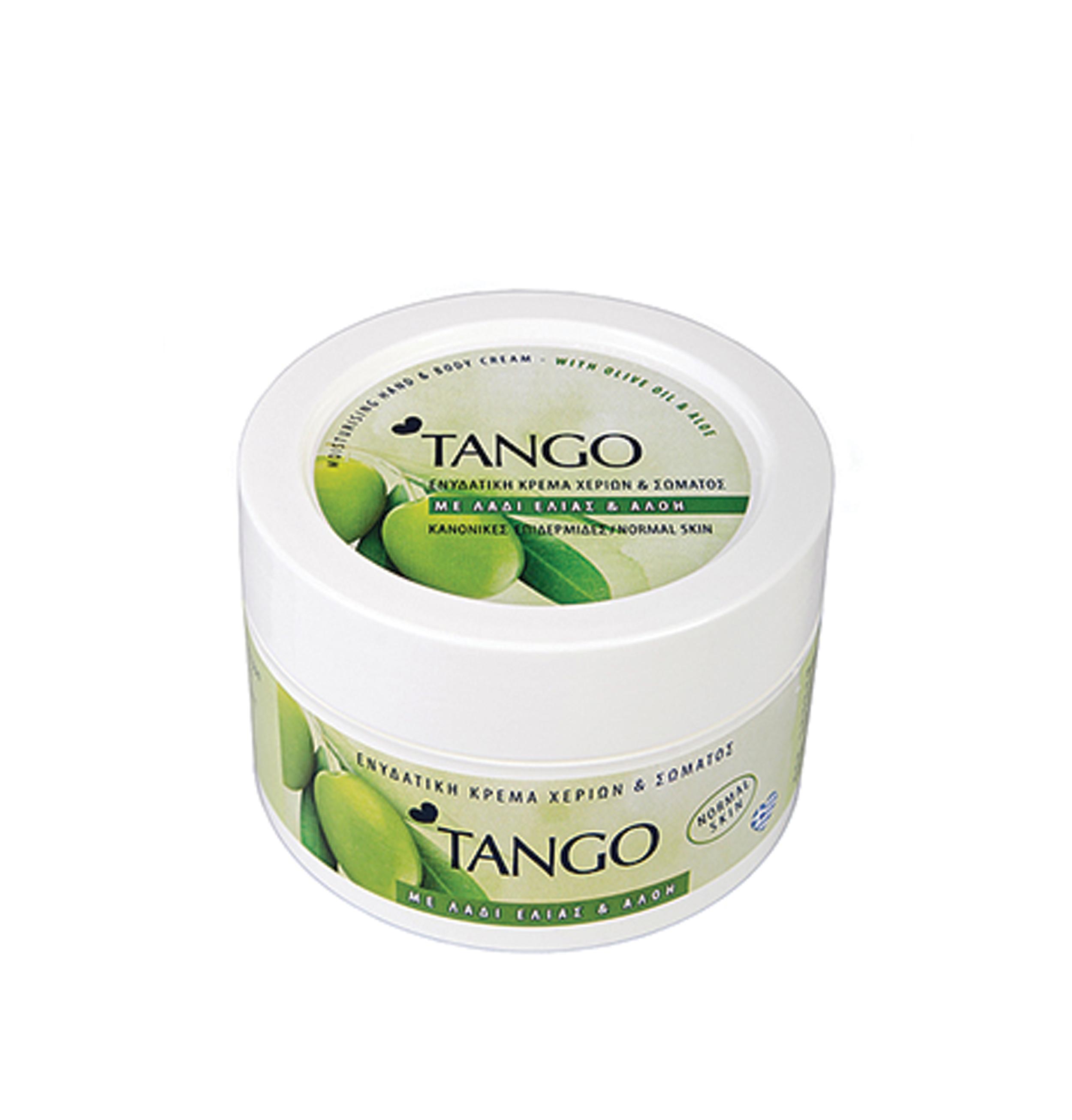 Κρέμα χεριών και σώματος Tango με λάδι ελιάς και αλόη 250ml