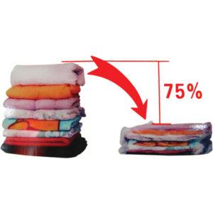 Αποθηκευτική σακούλα ρούχων κενού αέρος-vacuum με συρρίκνωση 60x80cm [00402182]