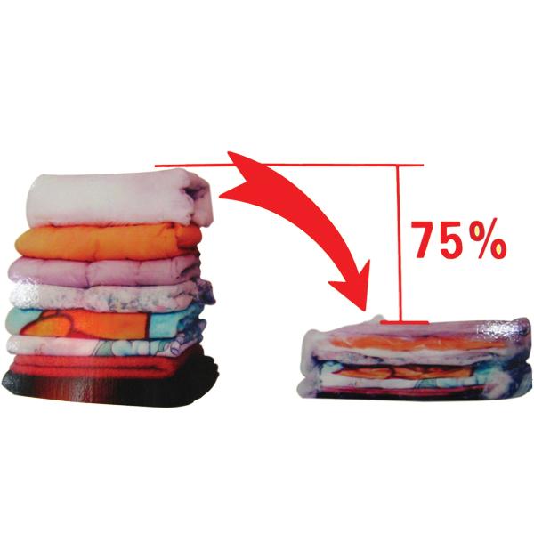 Αποθηκευτική σακούλα ρούχων κενού αέρος-vacuum με συρρίκνωση 60x80cm