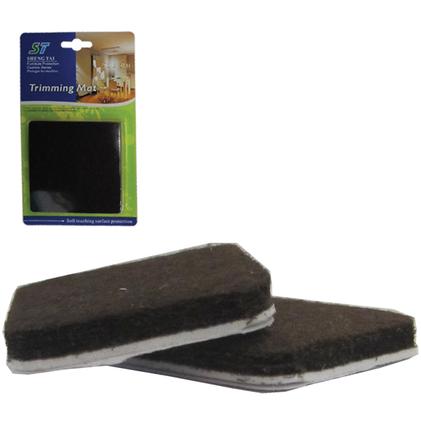 Σετ 2 τετράγωνα αυτοκόλλητα προστατευτικά τσοχάκια επίπλων