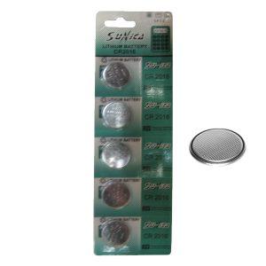 5 μπαταρίες λιθίου CR2016-κουμπιά