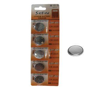 5 μπαταρίες λιθίου CR2025-κουμπιά