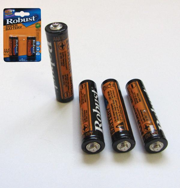 Συσκευασία 4 απλές μπαταρίες ΑΑΑ-R03 [00600001]