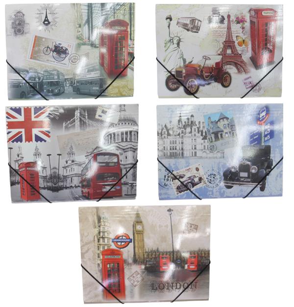 Φάκελλος αρχειοθέτησης με λαστιχο London