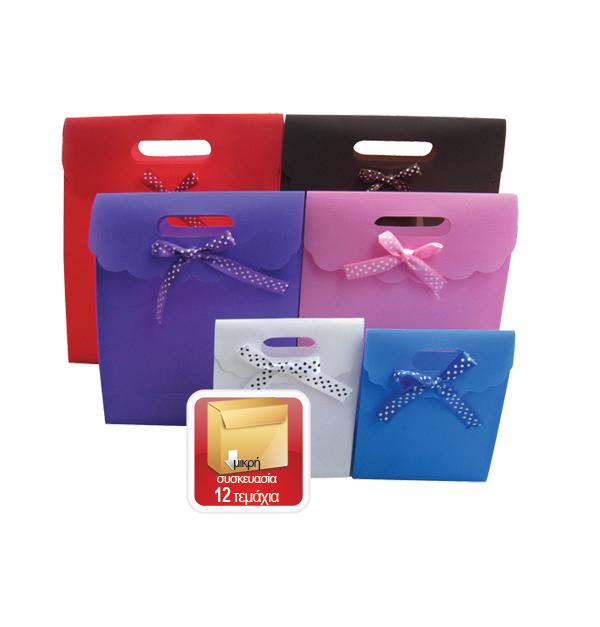 Πλαστική τσάντα - σακούλα δώρου φάκελος 16x12cm