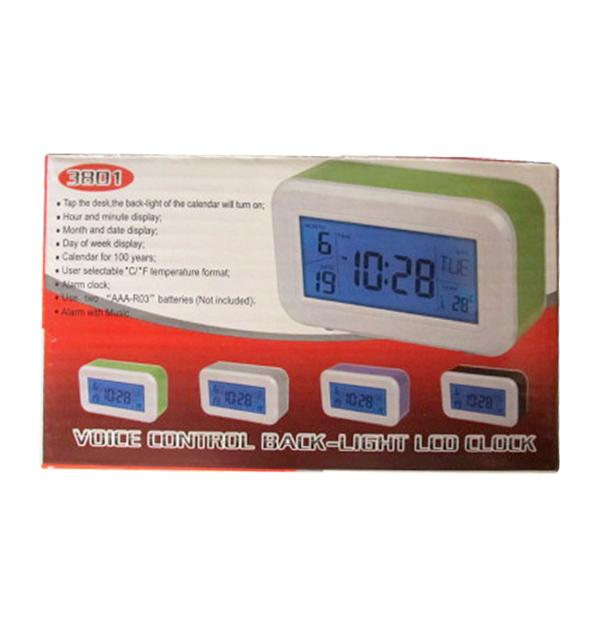 Ρολόι επιτραπέζιο- ημερολόγιο - θερμόμετρο