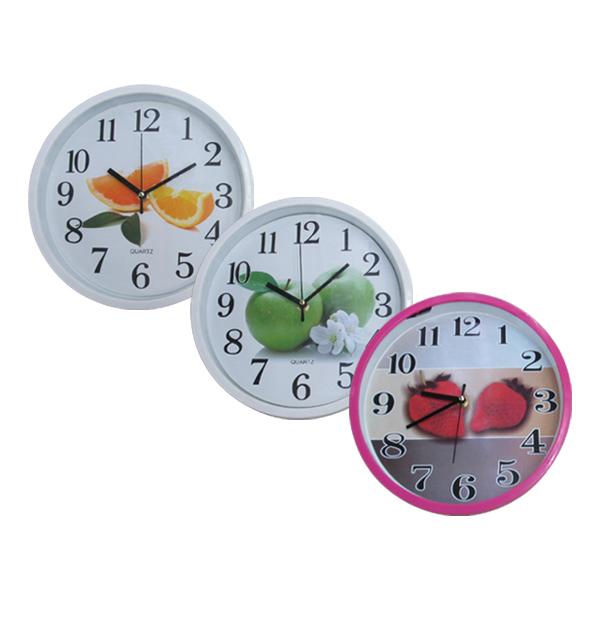 Ρολόι τοίχου αναλογικό Φ-24,5εκ με φρούτα