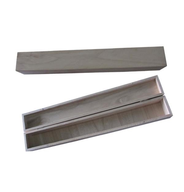 Ξύλινο αλουστράριστο κουτί λαμπάδας - λαμπαδόκουτο