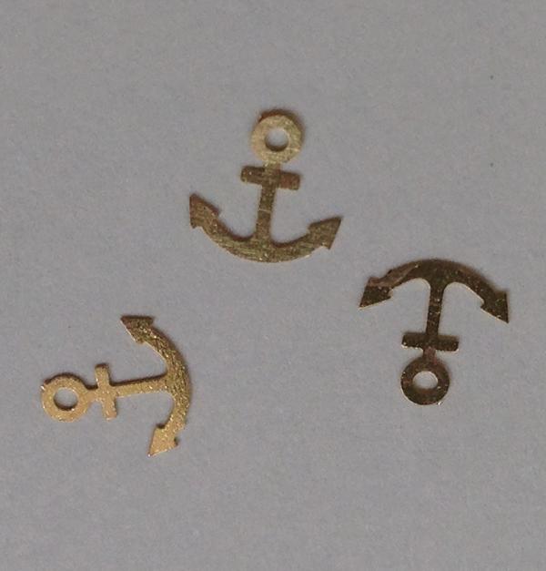 50 μεταλλικά διακοσμητικά νυχιών χρυσές άγκυρες