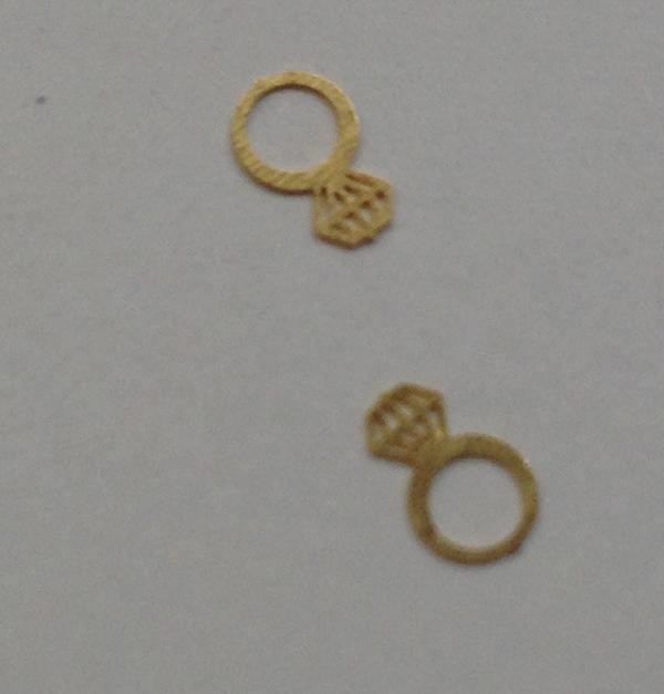 50 μεταλλικά διακοσμητικά νυχιών χρυσά δαχτυλίδια