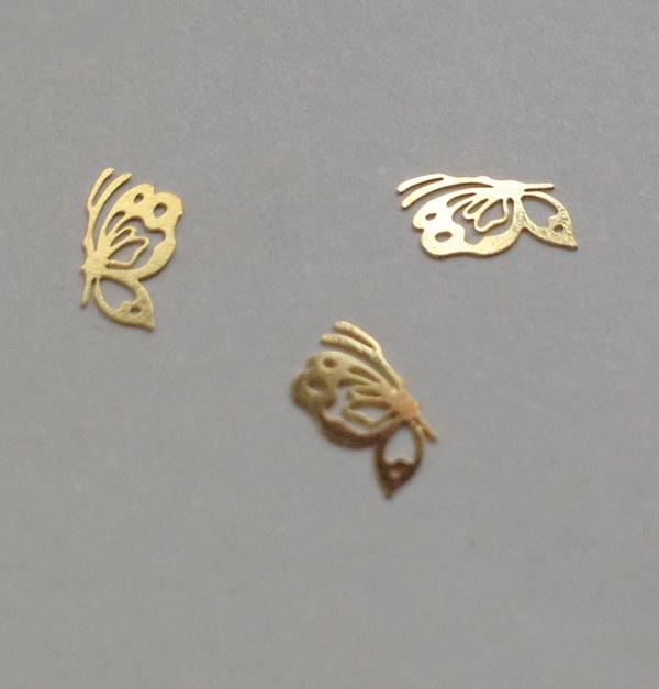 50 διακοσμητικά νυχιών χρυσές πεταλούδες