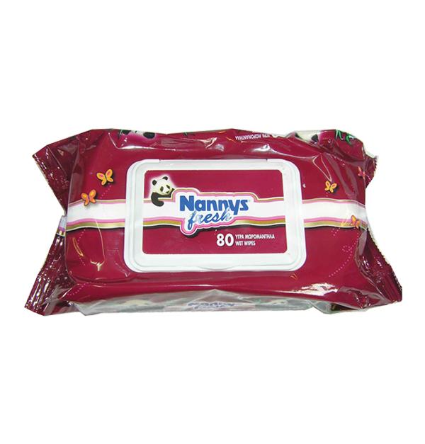 Μωρομάντηλα συσκευασία πλαστικό καπάκι 80 τεμχ