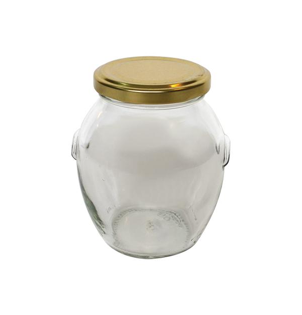 Γυάλινο βαζάκι Orchio πιθάρι 370ml με μεταλλικό καπάκι
