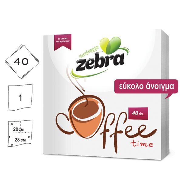 Σετ 40 χαρτοπετσέτες με σχέδιο Coffee 28x28cm