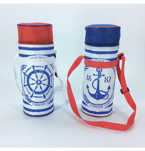 Ισοθερμική τσάντα μπουκαλίου με ναυτικό μοτίβο 2lt