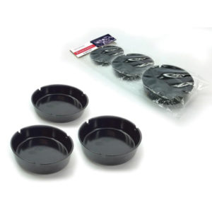 Σετ 3 μαύρα στρογγυλά πλαστικά τασάκια