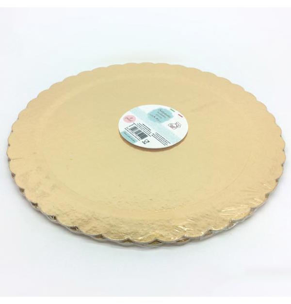 Σετ 2 χρυσές βάσεις τούρτας 30cm
