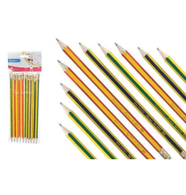 Σετ 12 μολύβια με γόμα