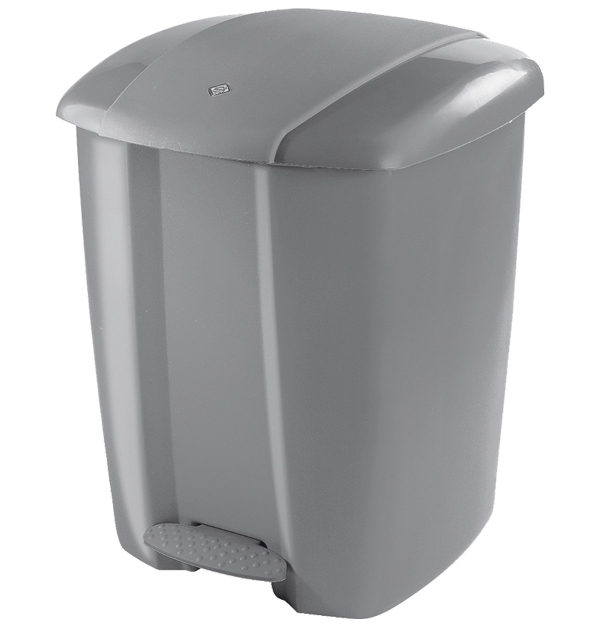 Πλαστικός κάδος απορριμάτων γκρι 25 lt